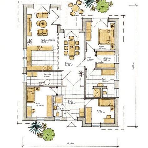 Badezimmergestaltung 6 Qm by Bungalow 110 Qm Grundrisse Ihr Traumhaus Ideen