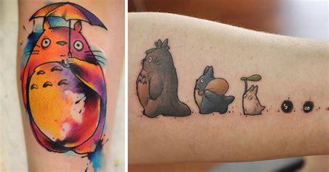totoro tattoos 20 studio ghibli tattoos from miyazaki