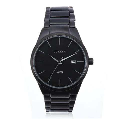fashion curren 8106 black stainless steel quartz