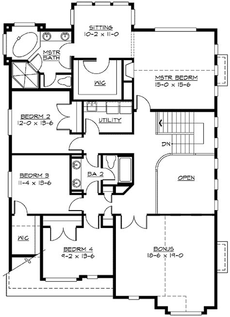 mission style in two versions 36346tx 2nd floor master suite butler walk in pantry cad multiple versions to choose from 2368jd 2nd floor