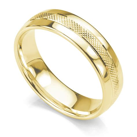 pattern for gold rings cross hatched court wedding ring