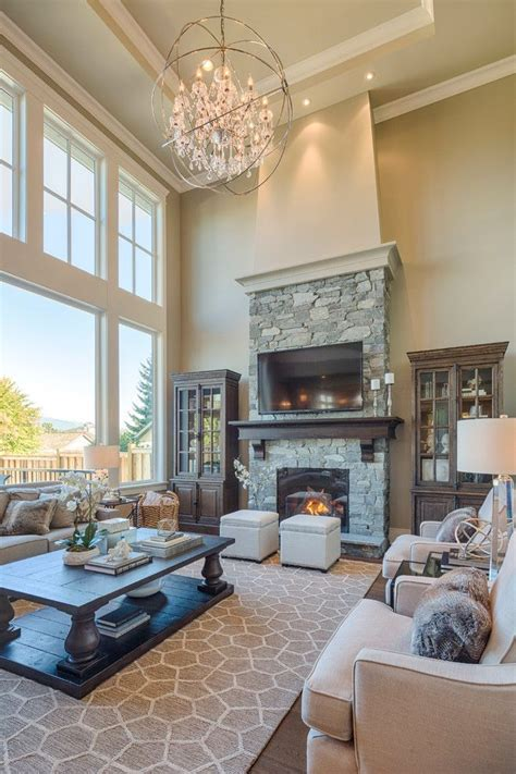 amazing living room interiors  stone walls