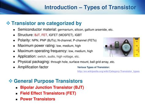 fet transistor introduction ppt me 6405 student lecture transistor powerpoint presentation id 662971