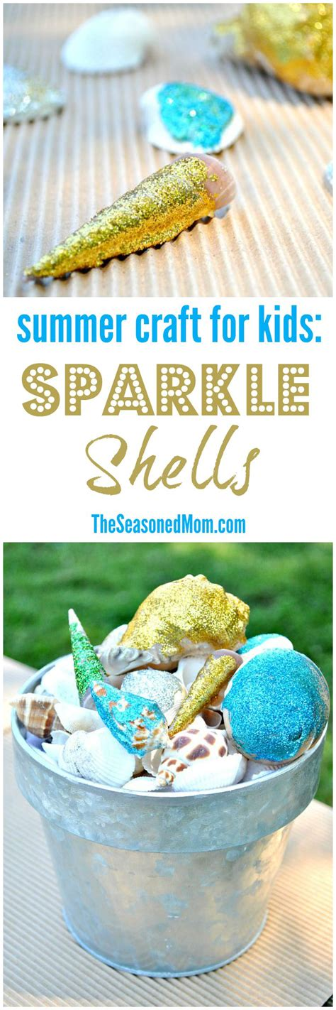 end of summer crafts for end of summer craft for sparkle shells the