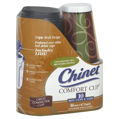 chinet comfort cup chinet comfort cup hot cups lids 16 oz superior