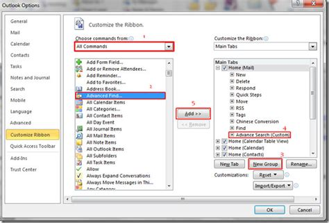 Which Option To The Find Command Will Search By Name Using A Sensitive Match Outlook 2010 Advanced Search Query Builder