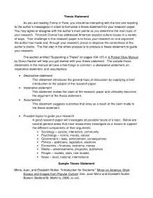 Thesis Example For A Research Paper Best Photos Of Thesis Examples For Research Paper
