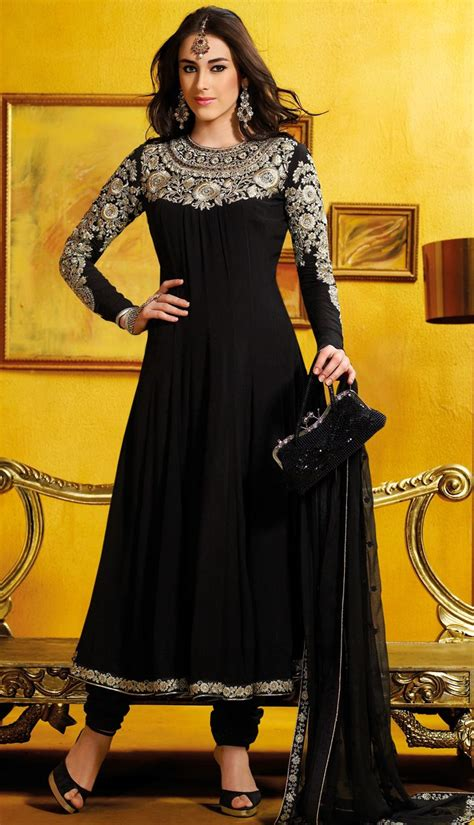 Indian Black Dress 310 best images about anarkali on churidar