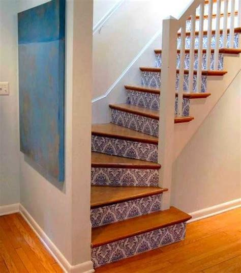 25 best ideas about wallpaper stairs on tile