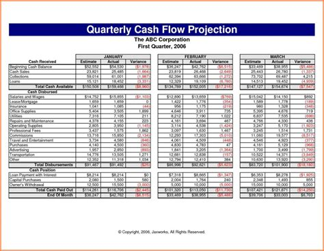 exle cash flow projection cash flow spreadsheet template spreadsheet templates for
