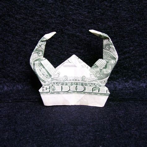 Helmet Origami - viking helmet money origami