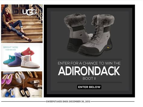 Ugg Sweepstakes - ugg 3 day adirondack ii sweepstakes