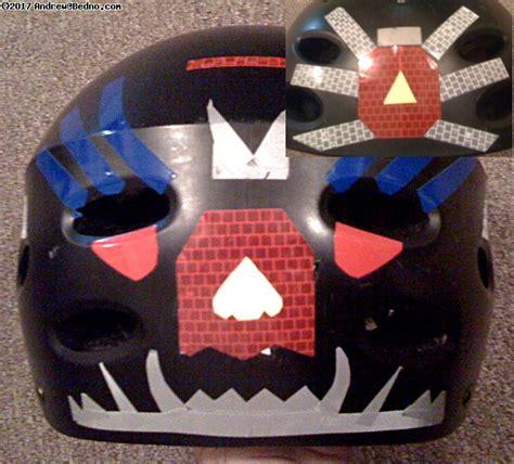 helmet decorating the chainlink