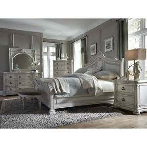 magnussen davenport sleigh bedroom set in weathered parchment