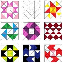 tetris pattern generator 145 best images about half square triangle blocks on