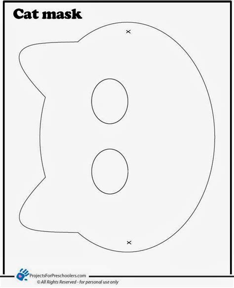 cat mask template early play templates 5 printable cat masks to make