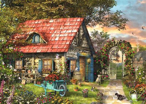 garden shed extra large piece jigsaw puzzle jum