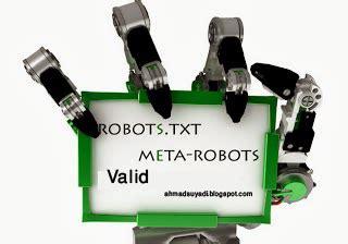 membuat robot txt cara membuat robots txt valid yobertparai blog