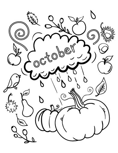 printable october coloring page free pdf download at http