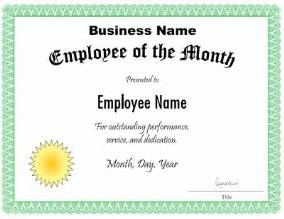 Employee Of The Month Certificate Template Word employee of the month certificate template customize the