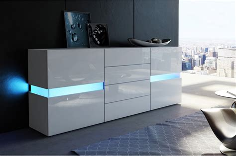 meuble etagere blanc 1457 buffet moderne laqu 233 blanc funky cbc meubles