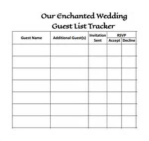 Wedding Guest List Sample : Helloalive