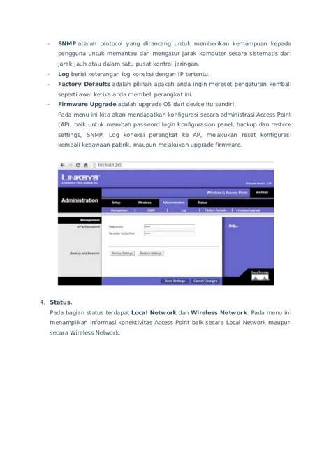Linksys E2500 Ap By Pusat Jaringan konfigurasi acces point