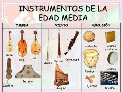 imagenes de instrumentos musicales medievales la m 250 sica en la edad media