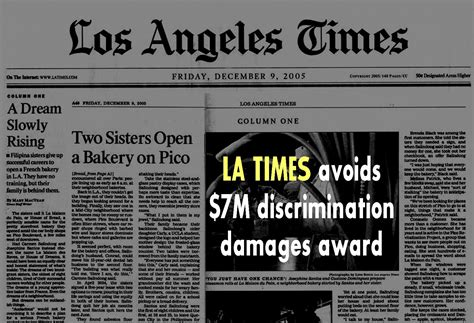los angeles times sports section 7m award for age discrimination scrapped by l a judge