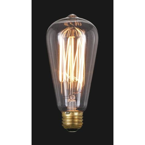 Edison Light Bulbs by Edison Base Light Bulb With Squirrel Cage Style Filament