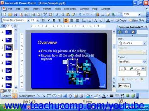 2003 powerpoint tutorial videos powerpoint 2003 tutorial adding custom animation microsoft