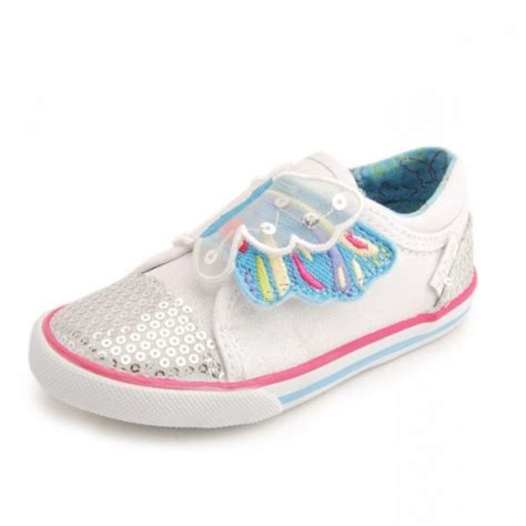 buttlerfly wings s white sparkle canvas shoe