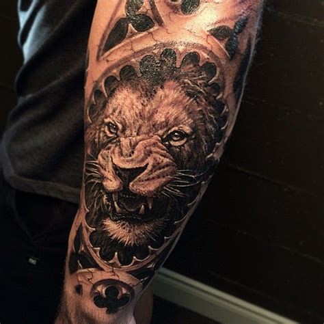 biomechanical lion tattoo 674 best ripped skin thru skin tattoos images on