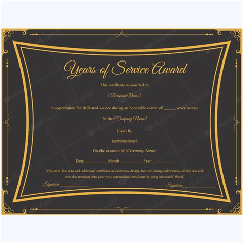 years of service certificate template exclusive best 25 certificate