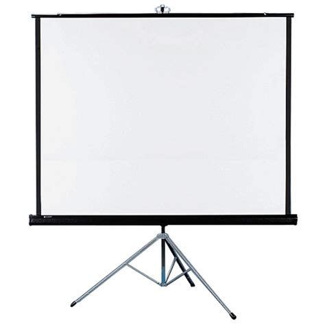 quartet portable tripod projection screen 70 quot x 70