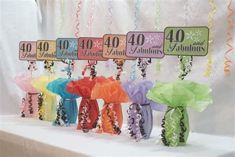 cheap and fabulous decorations for home interior party 40th centerpiece sign 40 and fabulous 40th birthday decor