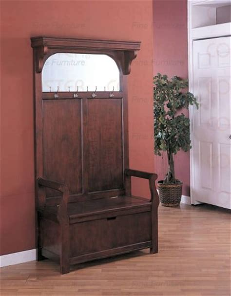 hall tree with bench and mirror gt gt gt sale cherry entryway wood hall tree coat rack storage