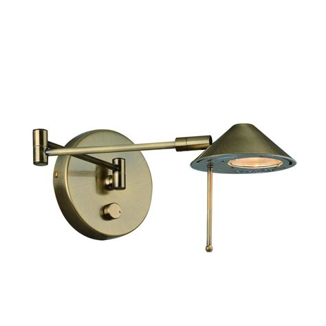 wall mounted swing arm shop lite source 13 in h antique brass swing arm wall