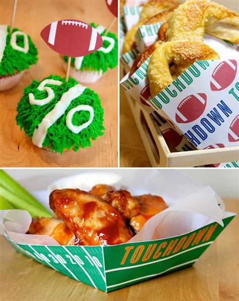 free football party printables homemade stadium snack