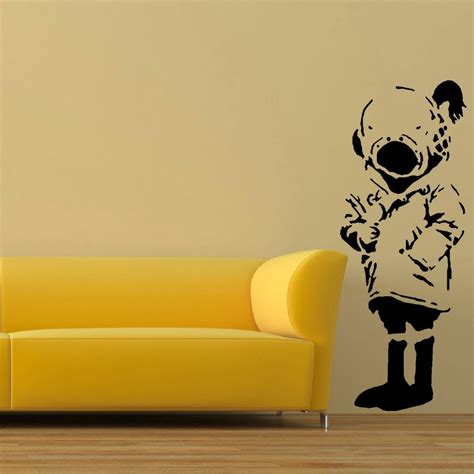 large wall stickers uk large wall sticker banksy diver size bedroom uk transfer decal black wall sticker