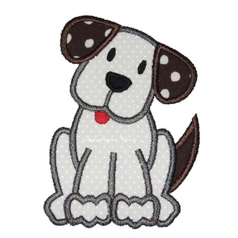 embroidery design dog instant download puppy dog machine embroidery applique