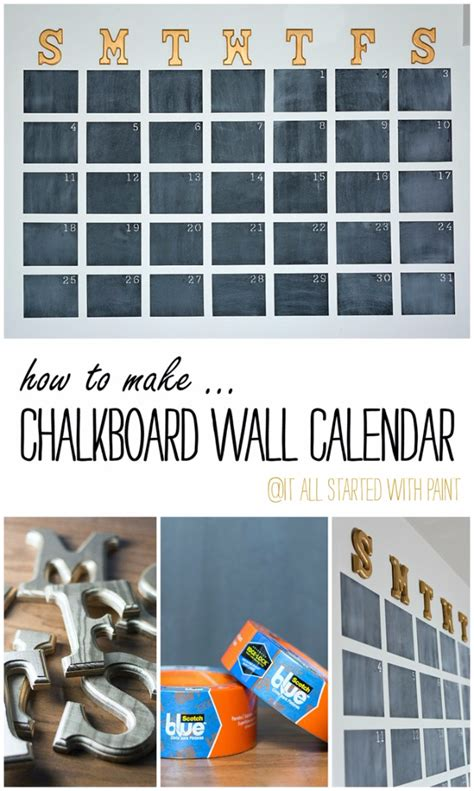diy chalkboard wall calendar 31 room decor ideas for diy projects for