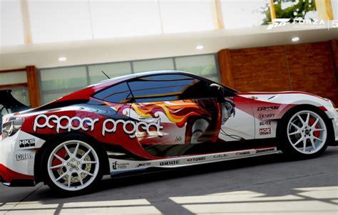 Peppers Toyota обои машина девушка надписи аэрография Toyota рендер