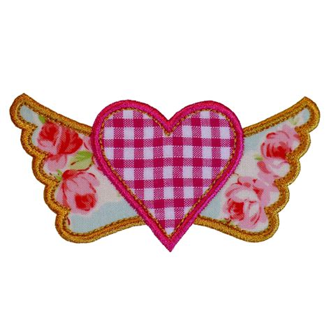 pattern for heart applique big dreams embroidery winged heart machine embroidery