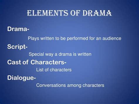Ppt Elements Of Drama Powerpoint Presentation Id 2425807 Drama Powerpoint