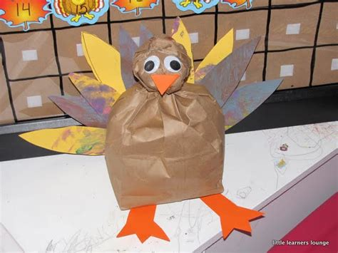 Paper Bag Turkey Craft - learners lounge paper bag turkey