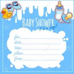 theme blank baby shower invitation