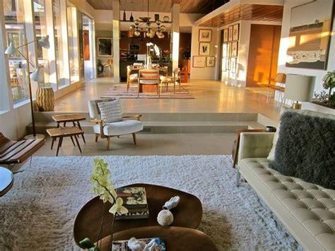 sunken living room remodel santa mid century modern living room los angeles by natalie epstein design