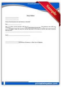 Employee two week notice form