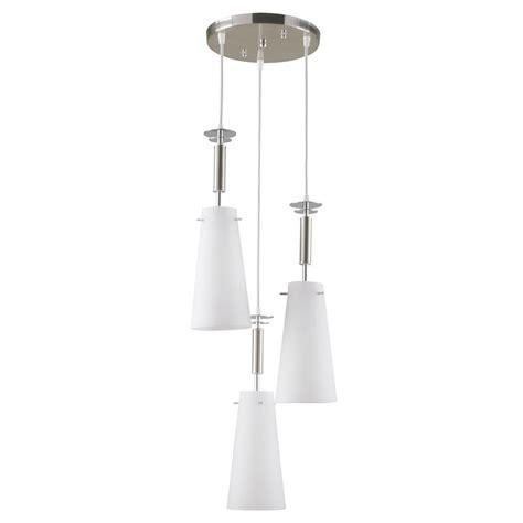 Hton Bay 3 Light Brushed Nickel Ceiling Mini Pendant Hton Bay Pendant Lights